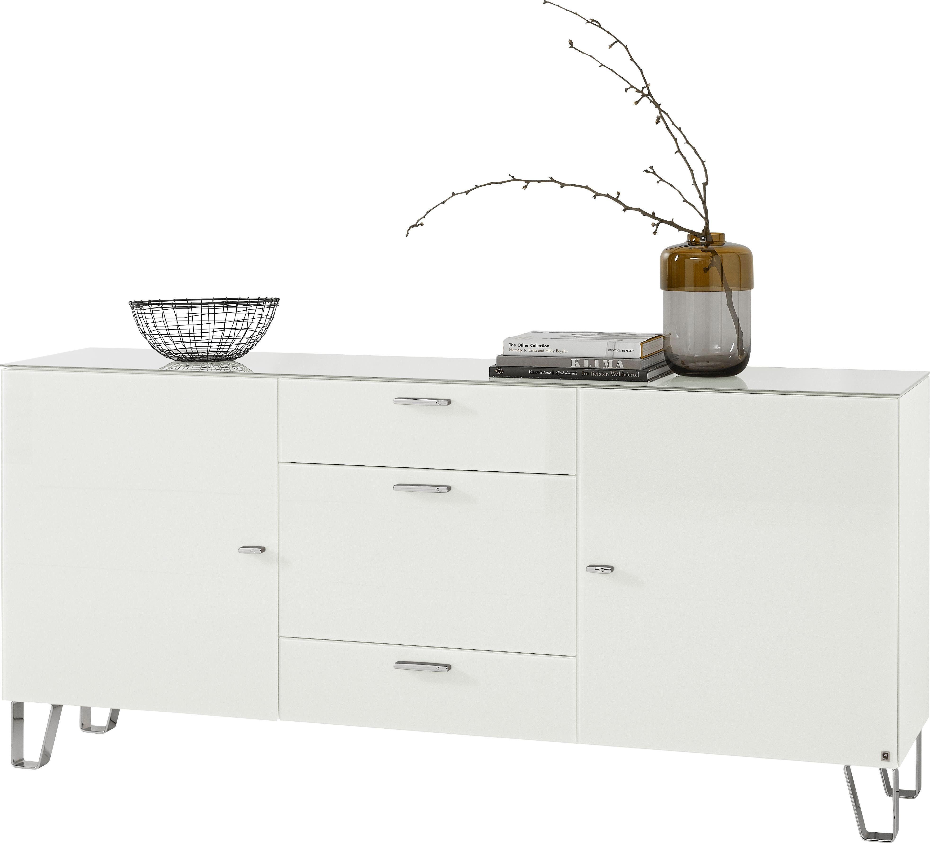 LEONARDO Sideboard »CUBE«, auf Designfüßen, mit 2 Türen und 3 Schubladen, Breite 189 cm online kaufen | OTTO