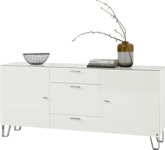 LEONARDO Sideboard »CUBE«, auf Designfüßen, mit 2 Türen und 3 Schubladen, Breite 189 cm