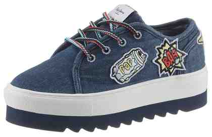 Pepe Jeans »Otawa Curious« Plateausneaker mit trendigen Patches