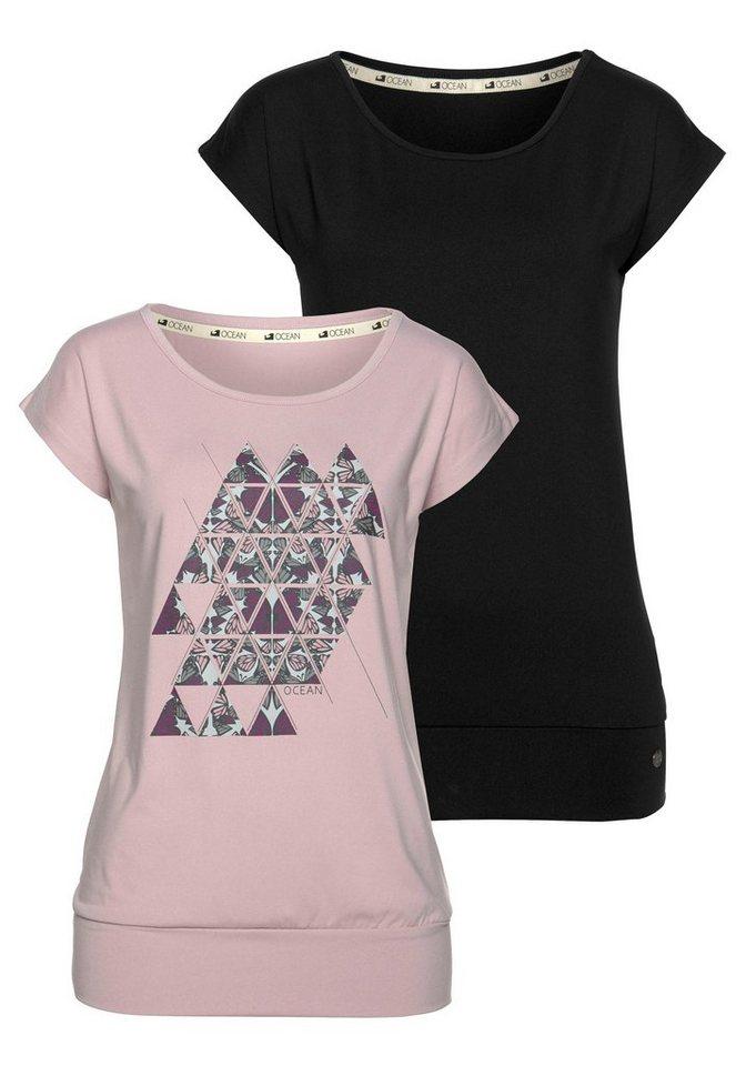 Ocean Sportswear Yogashirt (Packung, 2 tlg., 2er-Pack) | Sportbekleidung > Sportshirts > Yogashirts | Schwarz | Ocean Sportswear