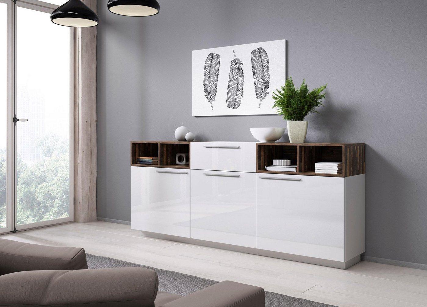 Sideboard ANKE  Breite 204 cm weiß   05900488564382