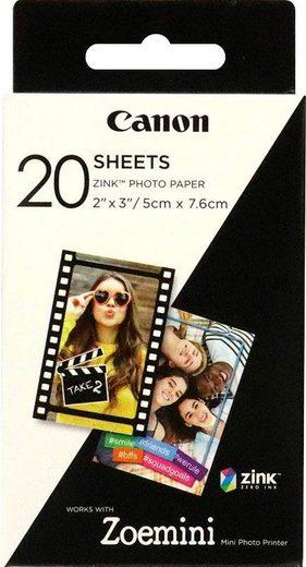Canon Zink Druckerpapier für Zoemini ZP-2030 - 20 Blatt