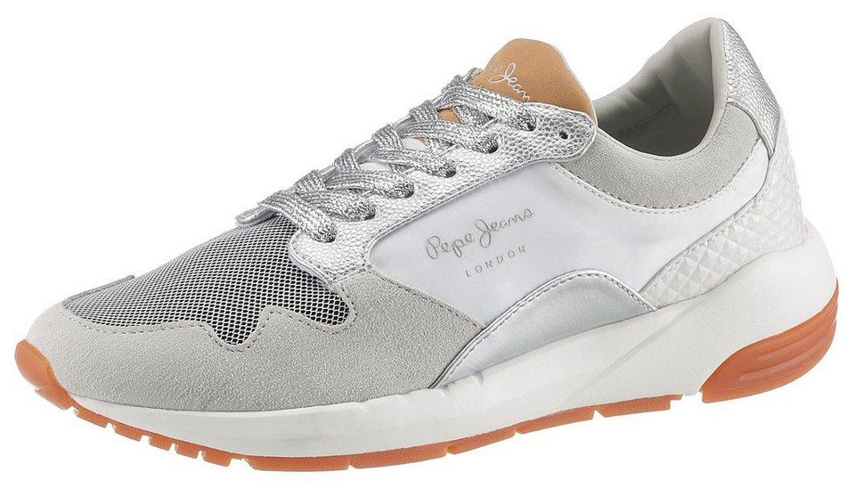 398cb6fce5ab50 Pepe Jeans »Foster Maya« Sneaker mit modischen Metallic-Details ...