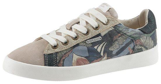 Pepe Jeans »Kioto Jungle« Sneaker mit auffälligem Blätterprint