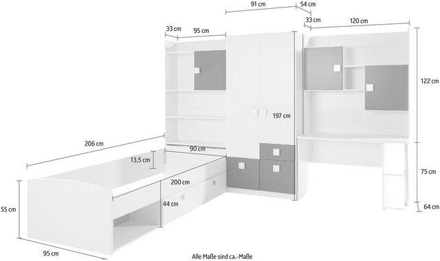 Komplettzimmer - rauch BLUE Jugendzimmer Set »Kate«, (Set, 5 tlg)  - Onlineshop OTTO