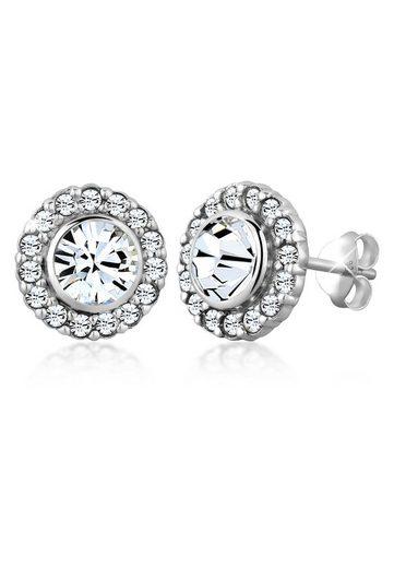 Elli Paar Ohrstecker »Glamour Kristalle 925 Silber«