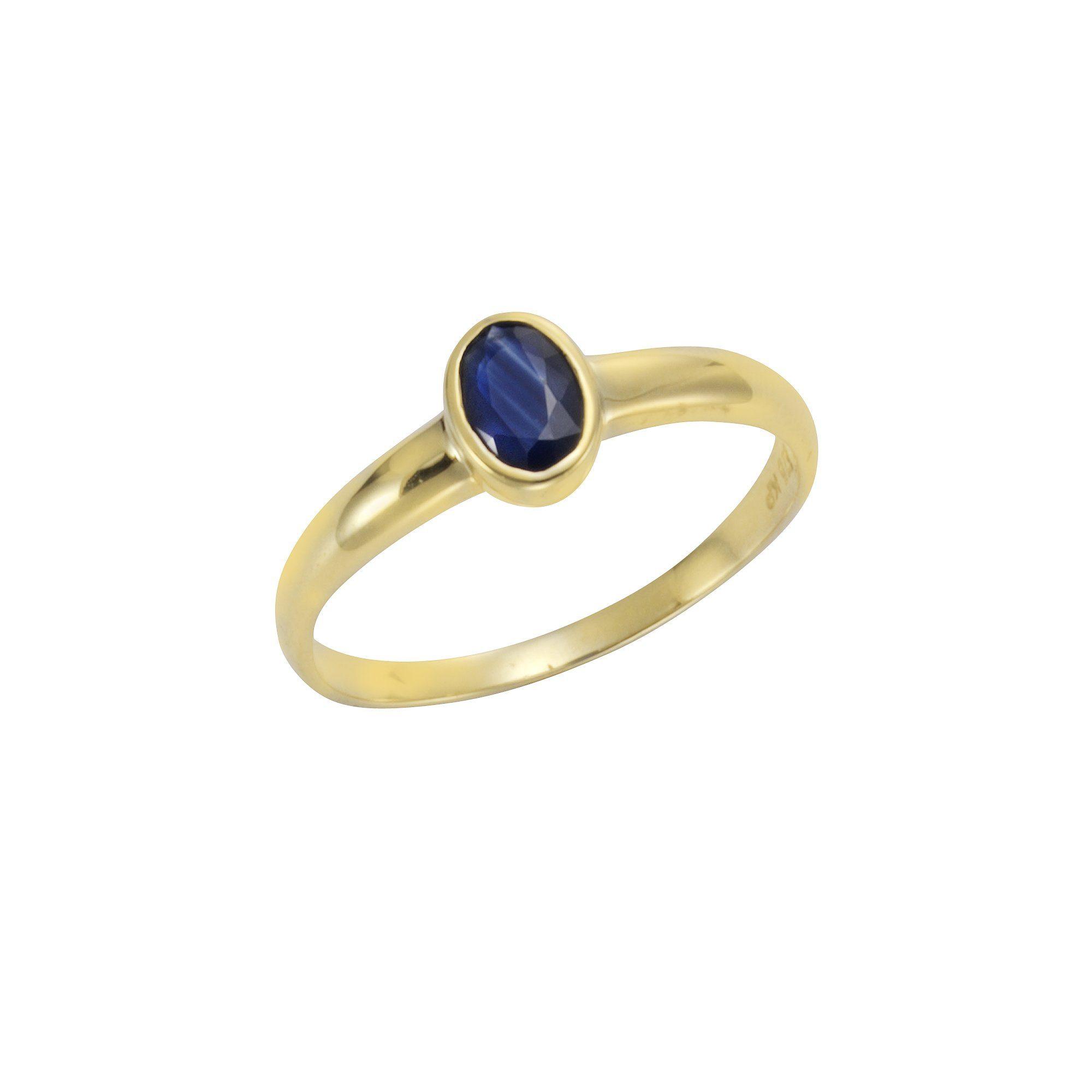 VIVANCE Ring »375/- Gelbgold mit Safir«