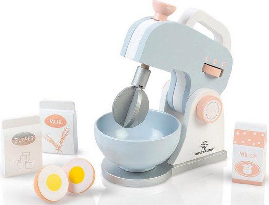 MUSTERKIND® Kinder-Rührgerät »Olea, weiß/graublau«, (Set, 7-tlg), Mixer verstellbar & Rührschüssel herausnehmbar