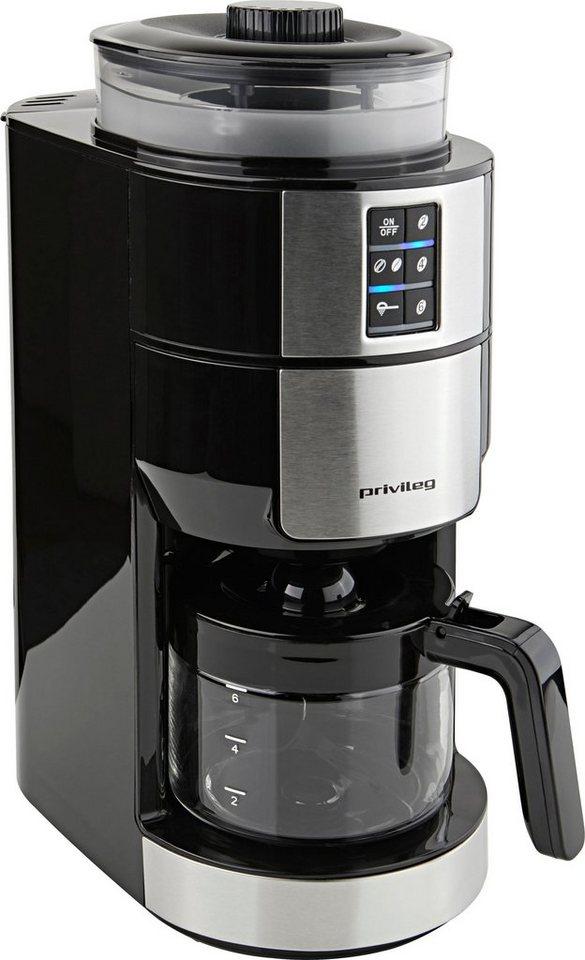 privileg kaffeemaschine mit mahlwerk f r 6 tassen papierfilter online kaufen otto