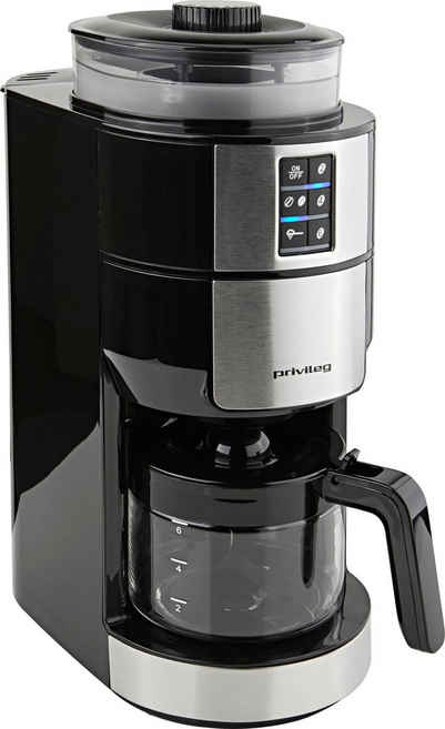 Privileg Kaffeemaschine mit Mahlwerk für 6 Tassen, Papierfilter