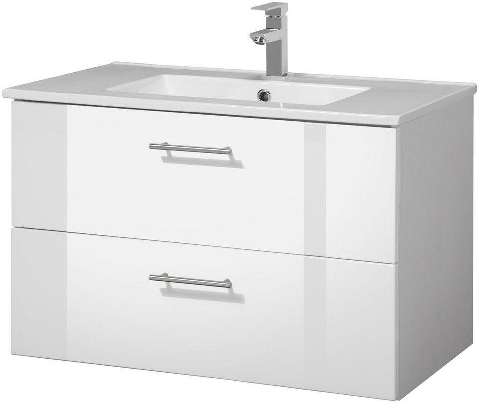 Held Möbel Waschplatz Set Trento Waschtisch Breite 80 Cm 2 Tlg