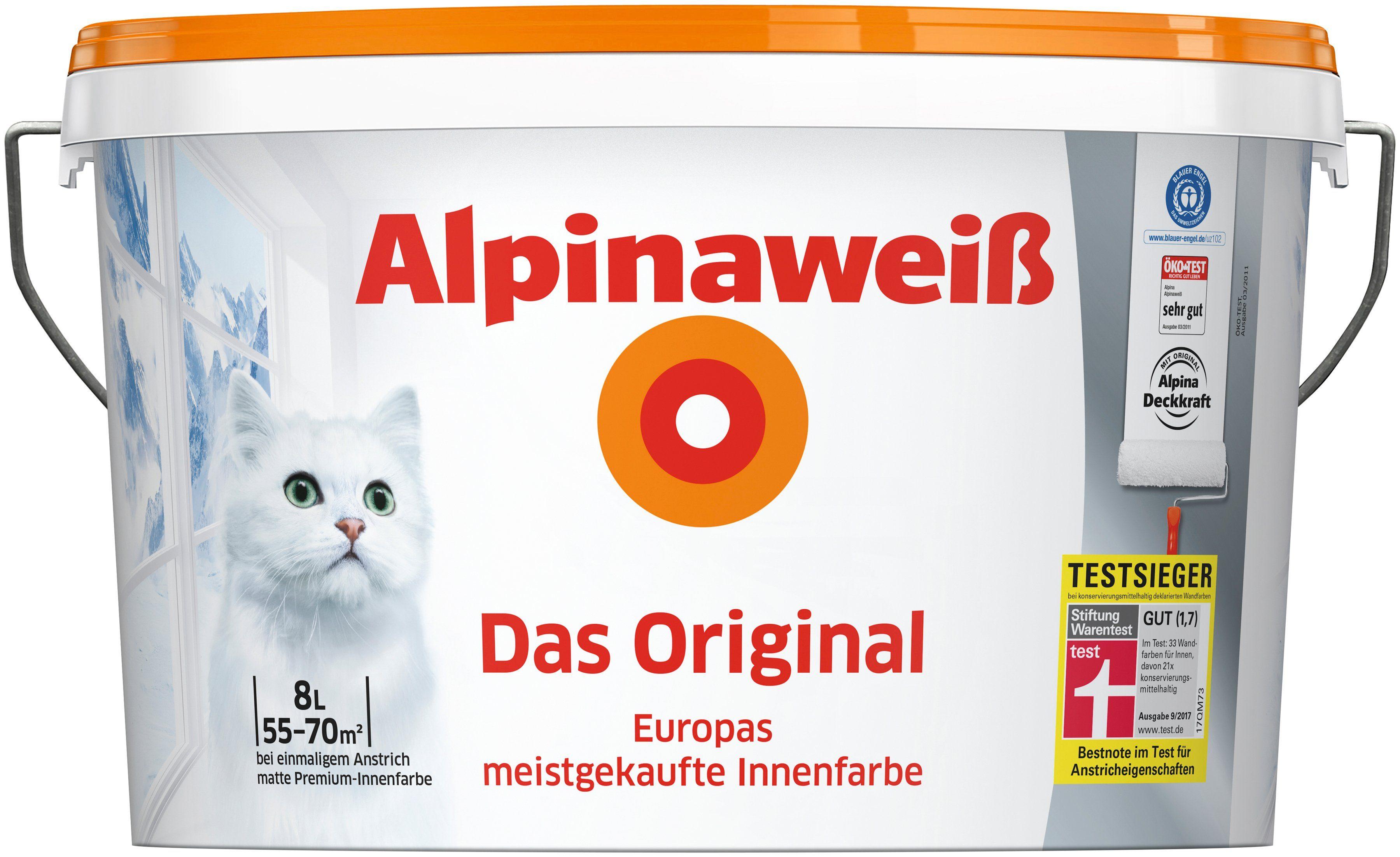 ALPINA Wand- und Deckenfarbe »Alpinaweiß - Das Original«, 8 l