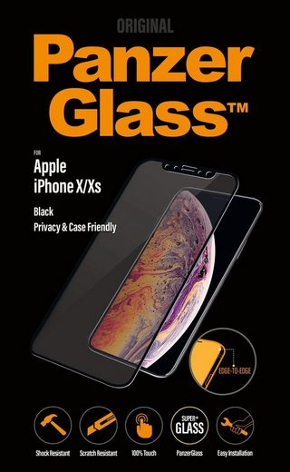 PanzerGlass Schutzglas »Edge-to Edge iPhone X/Xs Casefriendly Privacy«