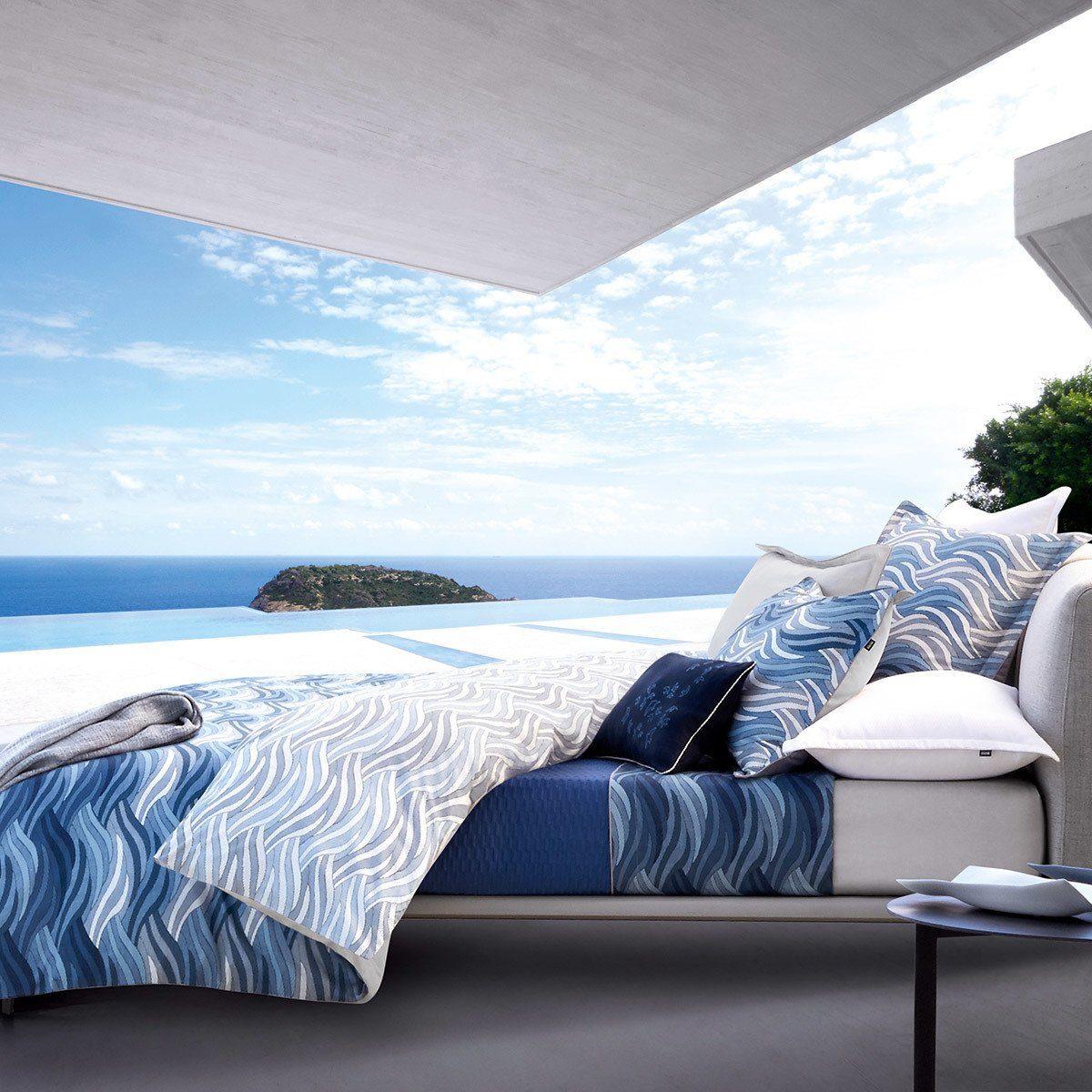 Bettwäsche »OCEANWAVE«, Hugo Boss Home, Bedruckter Baumwoll-Satin