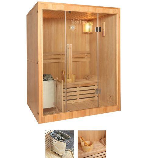 HOME DELUXE Sauna »Skyline L«, 150x120x190 cm, 3,5 kW Ofen mit int. Steuerung
