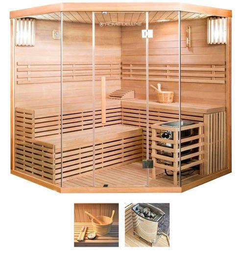 HOME DELUXE Sauna »Skyline XL BIG«, 200x200x210 cm, 8 kW Ofen mit int. Steuerung