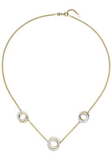 JOBO Collierkettchen, 585 Gold bicolor mit 82 Diamanten
