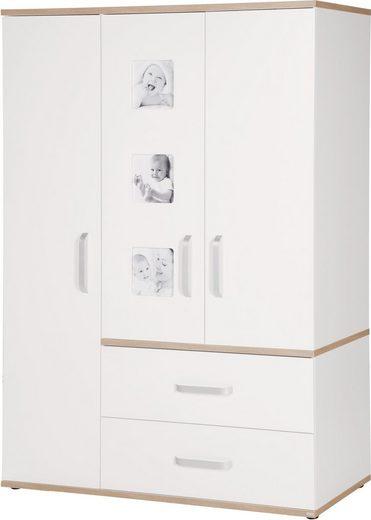 roba® Kleiderschrank »Pia, 3-türig« mit integrierten Bilderrahmen an den Türen