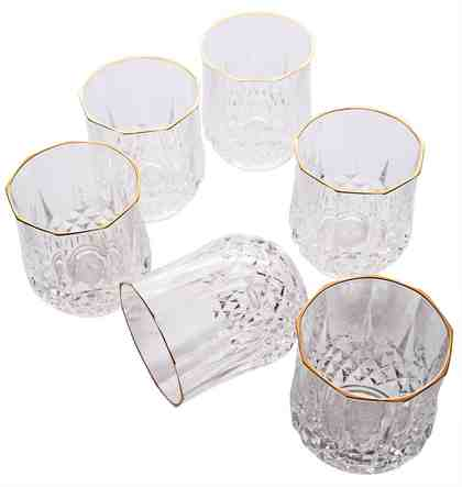 Guido Maria Kretschmer Home&Living Whiskyglas »Golden Line« (6-tlg), Goldrand