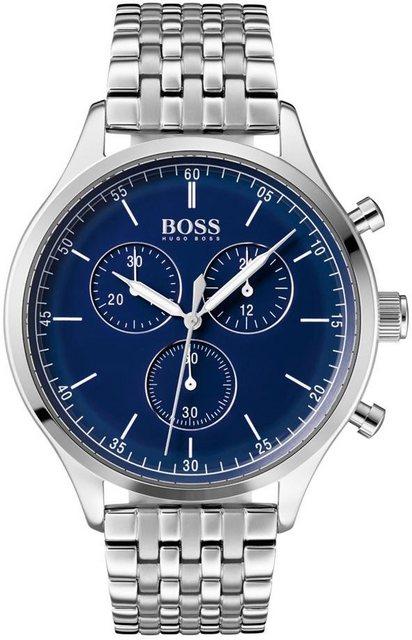 Herren Boss Chronograph COMPANION 1513653 silber   07613272299923