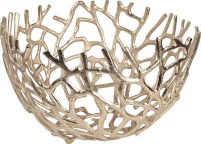 ARTRA Dekoschale »Aluminium Schale Elif in Gold Tischdekoration« (1 Stück)