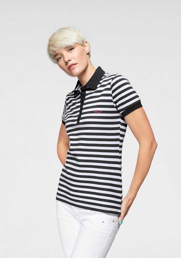 LTB Poloshirt »ZADOTI« mit Streifen & kontrastfarbener Logostickerei
