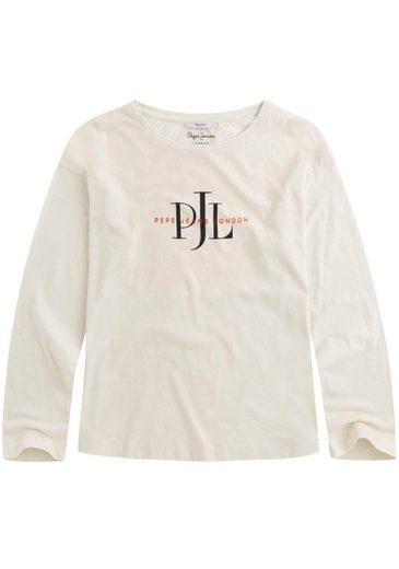 Pepe Jeans Langarmshirt »LOURDES« mit Logo-Print