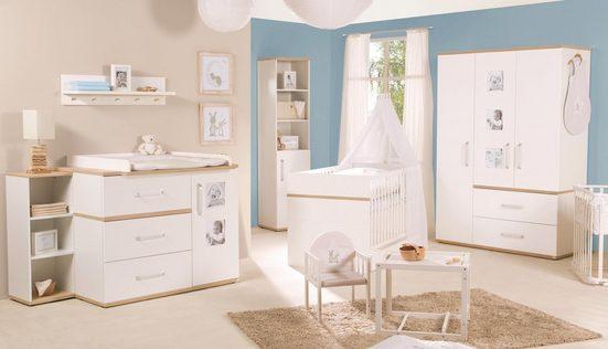 roba® Babyzimmer-Komplettset »Pia«, (Set, 3-St), breit; mit Kinderbett, Schrank und Wickelkommode