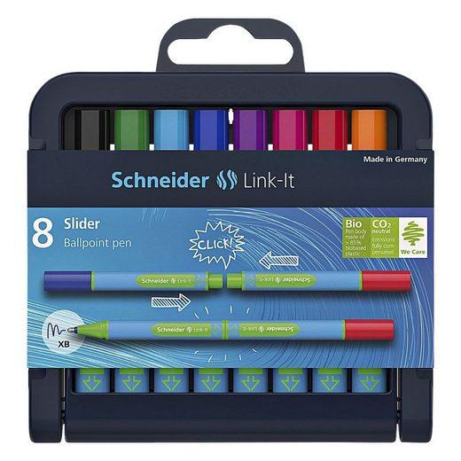 Schneider Kugelschreiber »Link-It Slider 154598«, (8-tlg), in praktischer Box