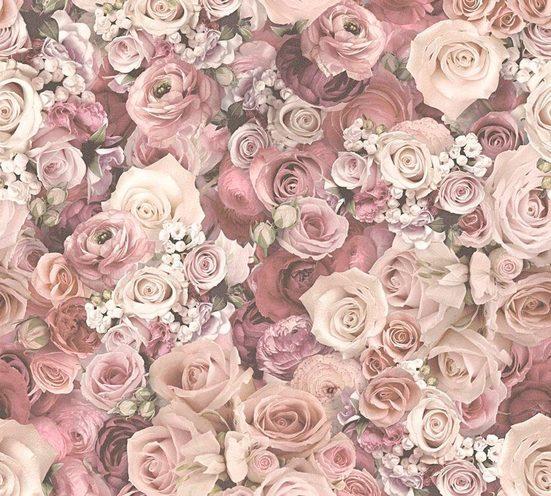 living walls Vliestapete »Urban Flowers«, floral, geblümt, mit Rosen, romantisch