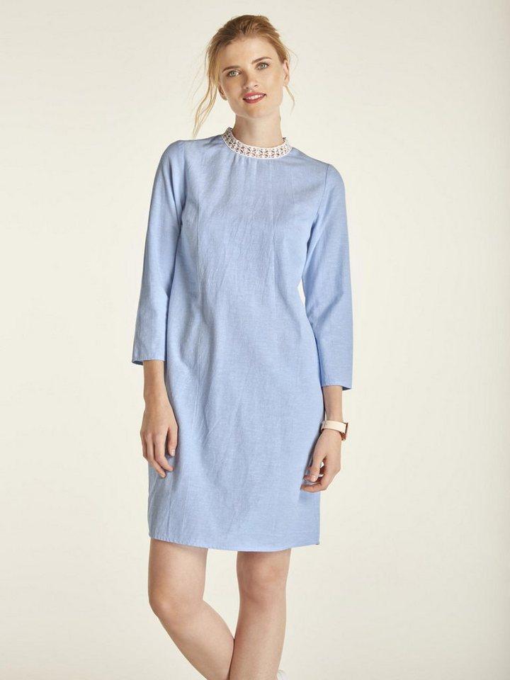 heine CASUAL Leinenkleid mit Spitzenkragen kaufen | OTTO