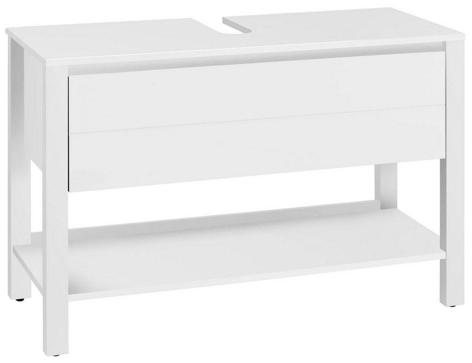 welltime waschbeckenunterschrank kaika breite 100 cm