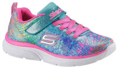 4334d2b8de03fc Skechers Kids »Wavy Lites« Sneaker mit praktischem Klettverschluss und  Gummizug