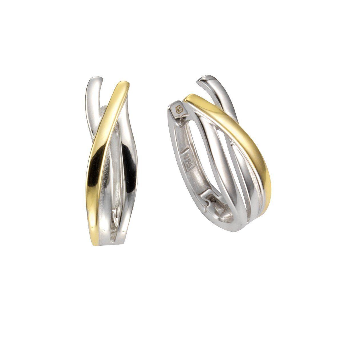 Firetti Klappcreolen »925/- Sterling Silber vergoldet«