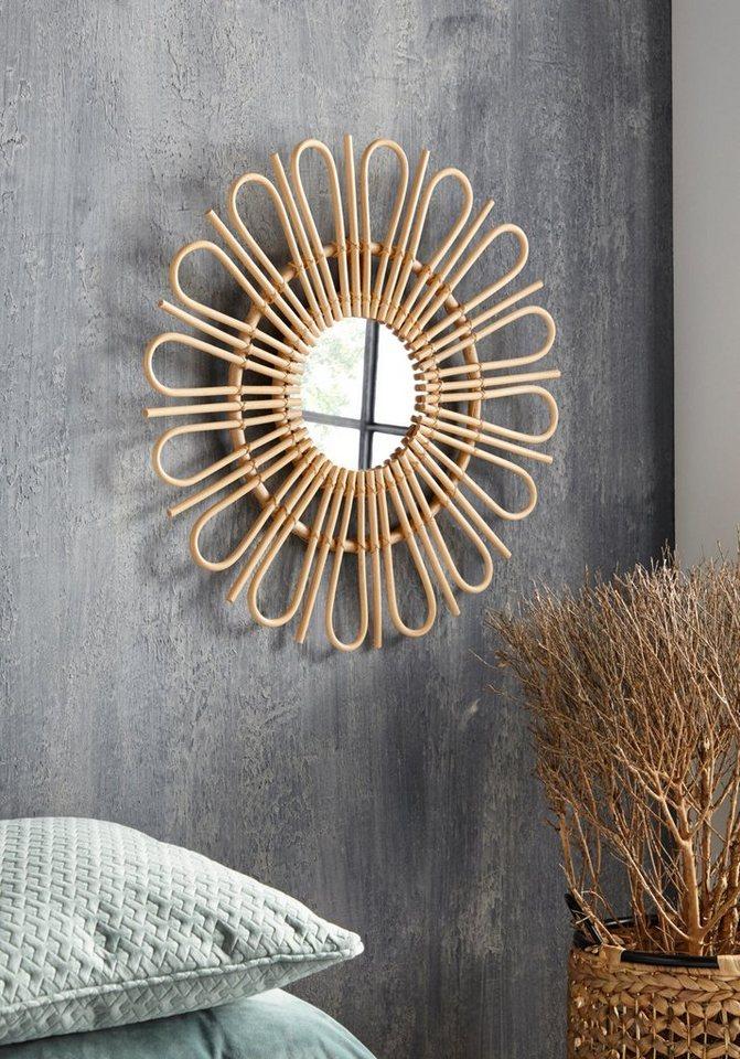 Home Affaire Wandspiegel Ethno Aus Rattan O 60 Cm Online Kaufen