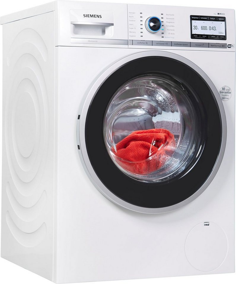 siemens waschmaschine iq800 wm4yh749 9 kg 1400 u min online kaufen otto. Black Bedroom Furniture Sets. Home Design Ideas