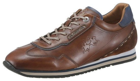 La Martina »Buttero Cuoio« Sneaker mit leichtem Used Finish