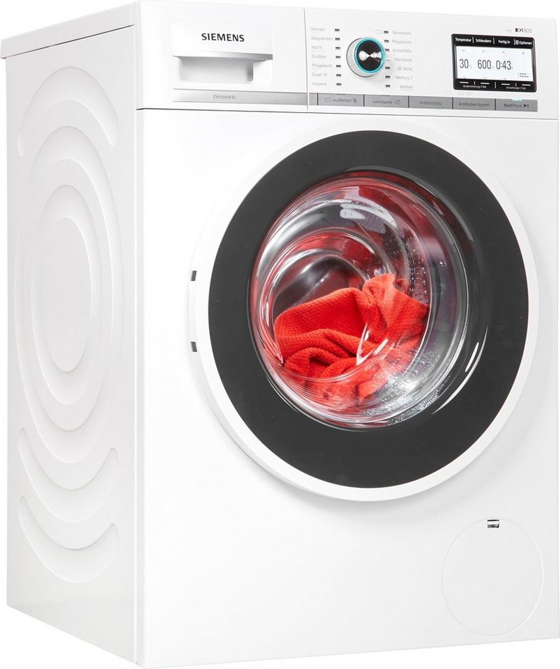 siemens waschmaschine iq800 wm14y7tt9 9 kg 1400 u min online kaufen otto. Black Bedroom Furniture Sets. Home Design Ideas