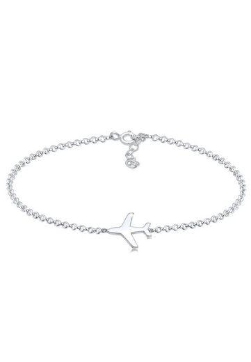 Elli Armband »Flugzeug Reise 925 Silber«