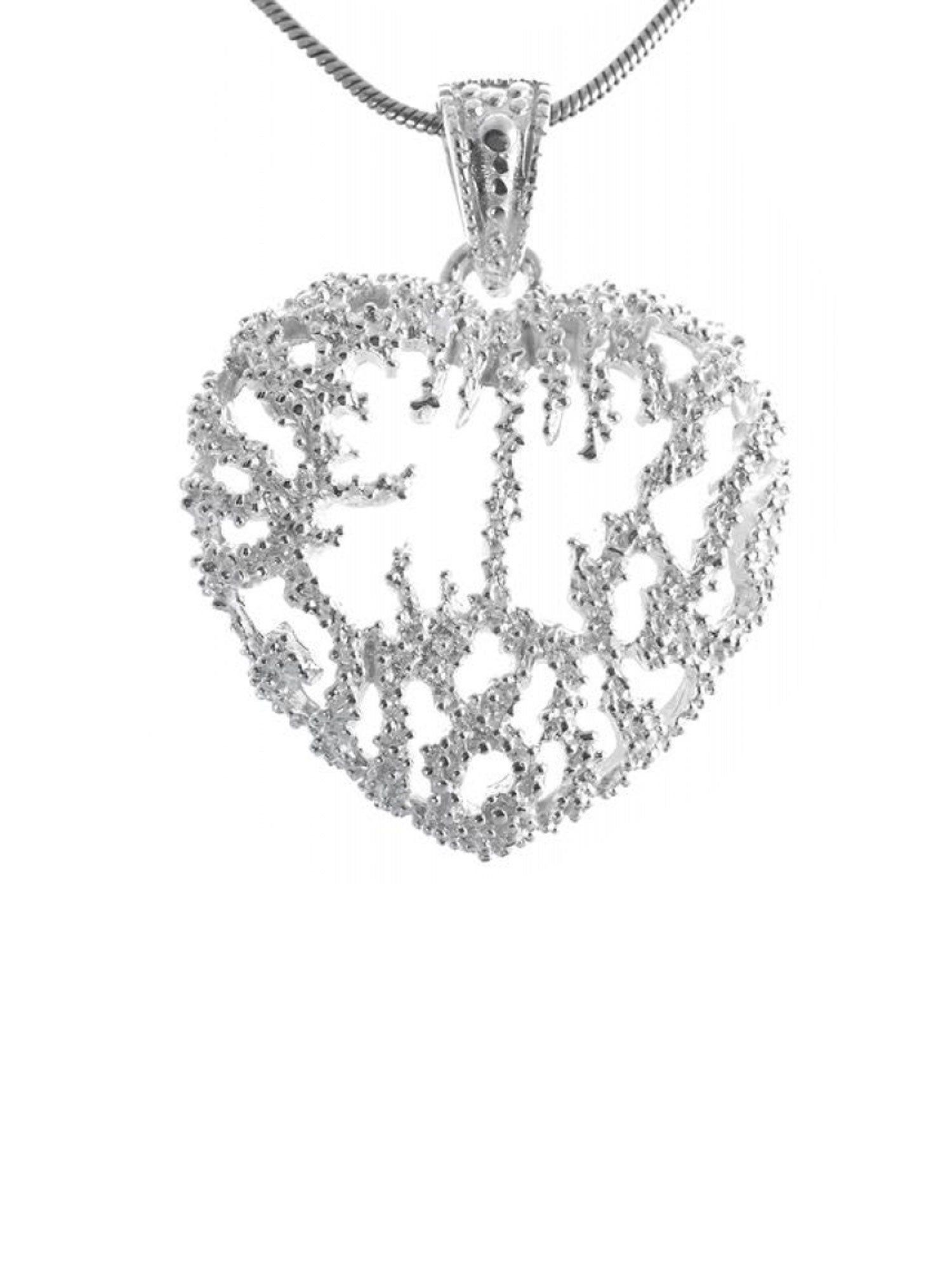 Adelia´s Kettenanhänger »925 Sterling Silber - Anhänger Sampa« 925 Silber Herz poliert