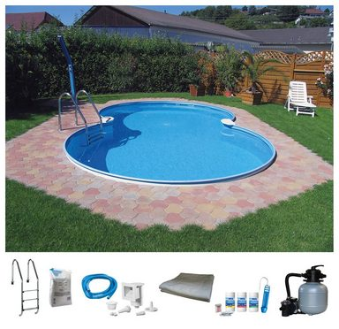 BWT - Best Water Technology Set: Achtformpool 7-tlg., BxLxH: 360x625x120 cm