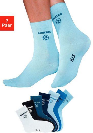 H.I.S Socken (7-Paar) für Kinder mit Fußballmotiv