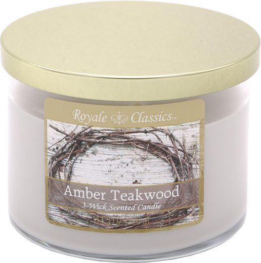 Candle-lite™ Duftkerze »Royale Classic - Amber Teakwood« (1-tlg)