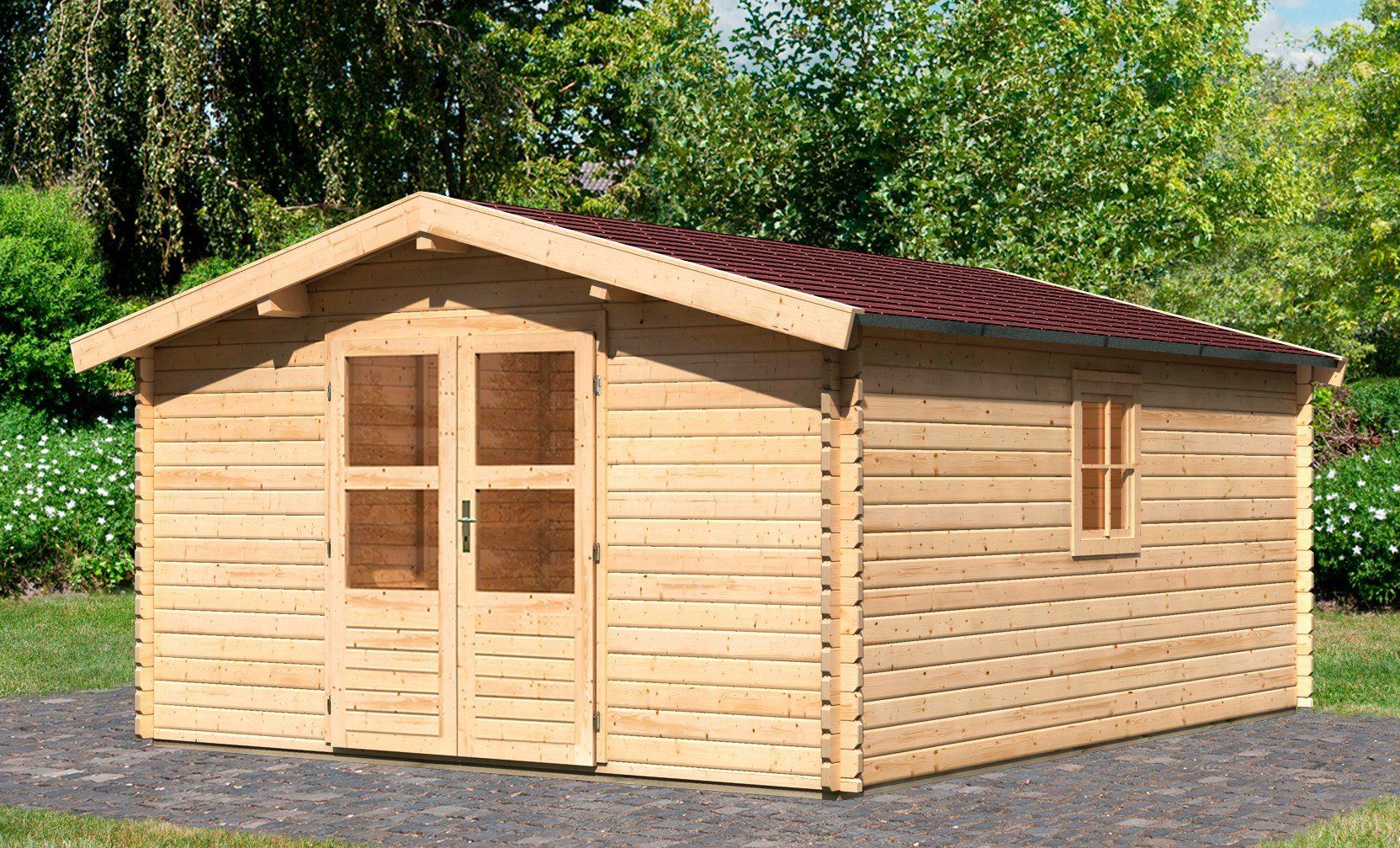 KONIFERA Set: Gartenhaus »Heidelberg 7«, BxT: 404x500 cm, inkl. Dachschindeln und Fußboden