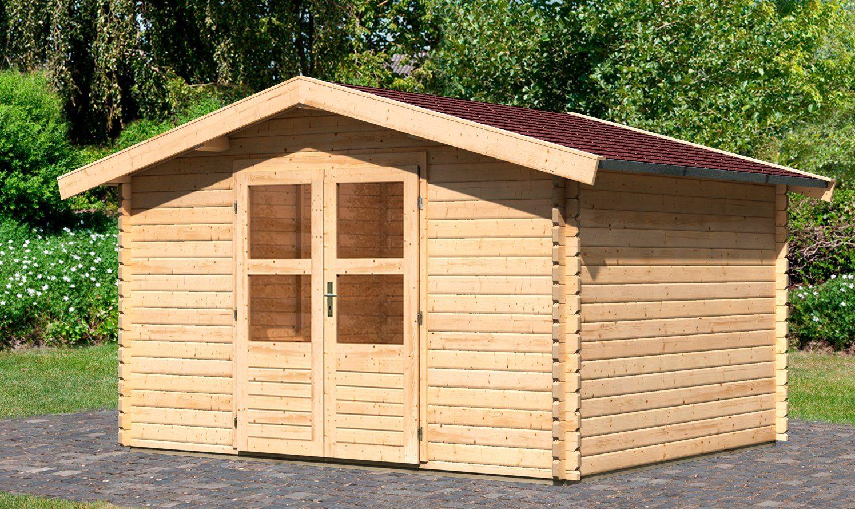 KONIFERA Set: Gartenhaus »Heidelberg 4«, BxT: 405x324 cm, inkl. Dachschindeln und Fußboden