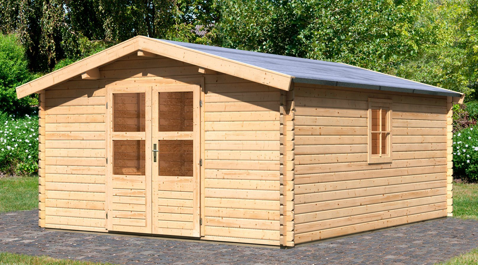 Fußboden Gartenhaus Pvc ~ Konifera gartenhaus heidelberg « bxt cm inkl