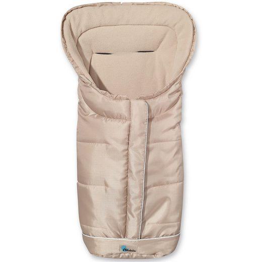 Altabebe Fußsack Fleece mit Reflektorstreifen und ABS, beige