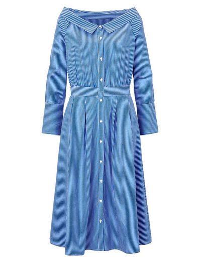 Reken Maar Kleid gestreift mit Carmenausschnitt
