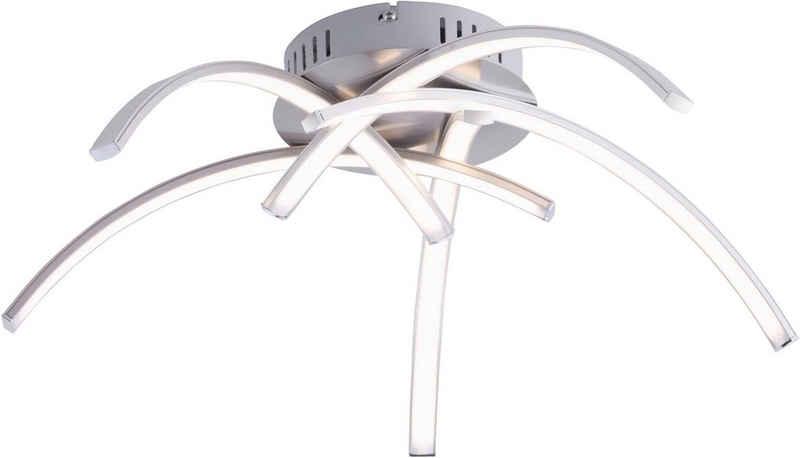 Leuchten Direkt Deckenleuchte »VALERIE«, Deckenlampe inklusive festverbautem LED-Leuchtmittel, 3000 Kelvin
