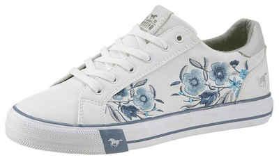 da9c243a444405 Mustang Shoes Sneaker mit sommerlichem Blumenstickerei
